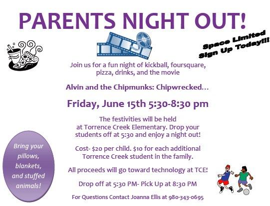 parent flyer templates - parents night torrence creek elementary pta