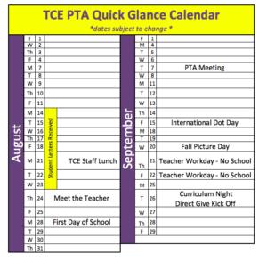 Quick Glance Calendar